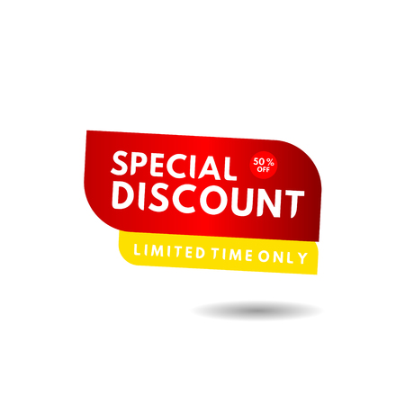Special Discount Limited Edition Label Vector Template Design Illustration