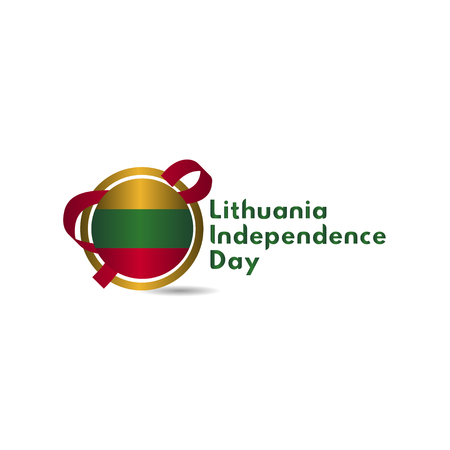 Lithuania Independence Day Vector Template Design Illustration 스톡 콘텐츠 - 124361914