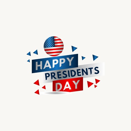 Happy Presidents Day Vector Template Design Illustration 스톡 콘텐츠 - 124361938