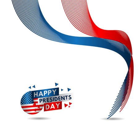 Happy Presidents Day Vector Template Design Illustration 스톡 콘텐츠 - 124361945