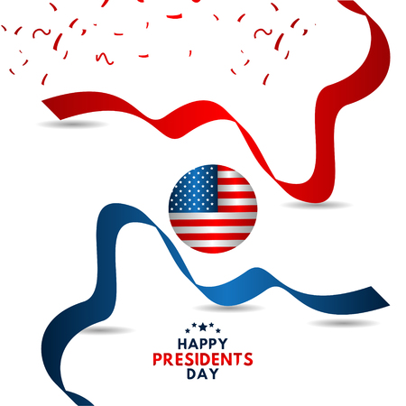 Happy Presidents Day Vector Template Design Illustration 스톡 콘텐츠 - 124361947