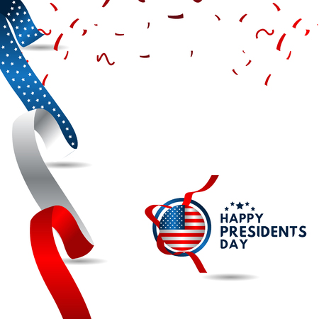 Happy Presidents Day Vector Template Design Illustration 스톡 콘텐츠 - 124361951