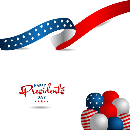 Happy Presidents Day Vector Template Design Illustration 스톡 콘텐츠 - 124361959