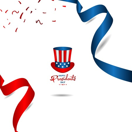 Happy Presidents Day Vector Template Design Illustration 스톡 콘텐츠 - 124361961