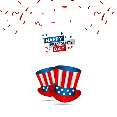 Happy Presidents Day Vector Template Design Illustration 스톡 콘텐츠 - 124361967