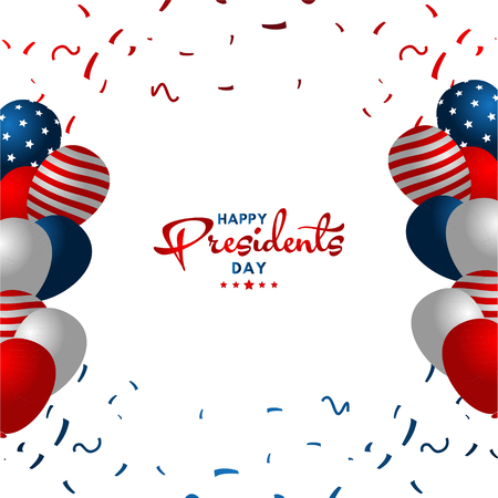 Happy Presidents Day Vector Template Design Illustration 스톡 콘텐츠 - 124361973