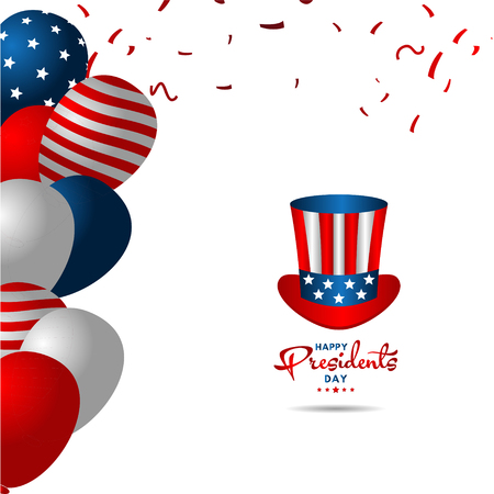 Happy Presidents Day Vector Template Design Illustration 스톡 콘텐츠 - 124361976