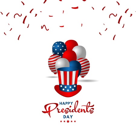 Happy Presidents Day Vector Template Design Illustration 스톡 콘텐츠 - 124361978