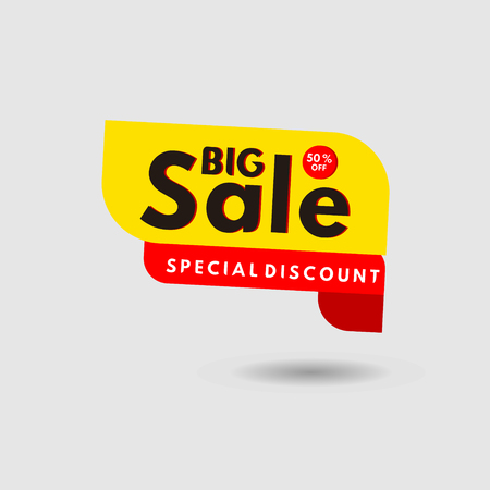 Big Sale Special Discount Label Vector Template Design Illustration 스톡 콘텐츠 - 124361979