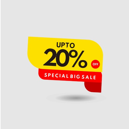 up to 20% Special Discount Label Vector Template Design Illustration 일러스트