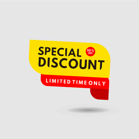 Special Discount Limited Time only Label Vector Template Design Illustration 스톡 콘텐츠 - 124361984