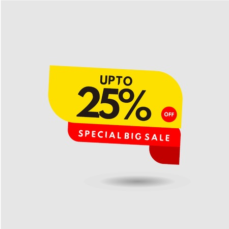 up to 25% Special Big Sale Label Vector Template Design Illustration