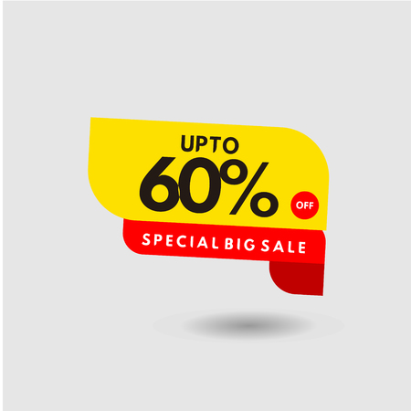 up to 60% Special Big Sale Label Vector Template Design Illustration