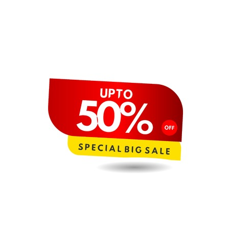 up to 50% Special Big Sale Label Vector Template Design Illustration