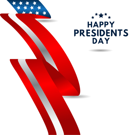 Happy Presidents Day Vector Template Design Illustration 스톡 콘텐츠 - 124361990