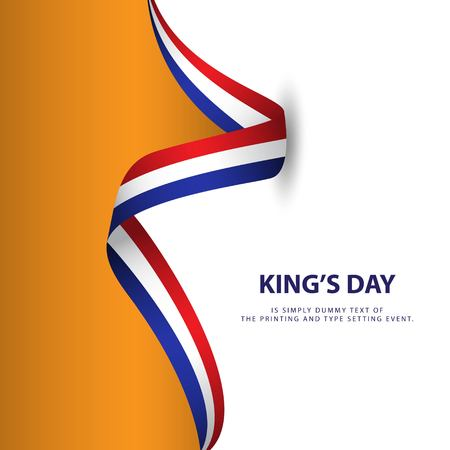 King's Day Vector Template Design Illustration Ilustração