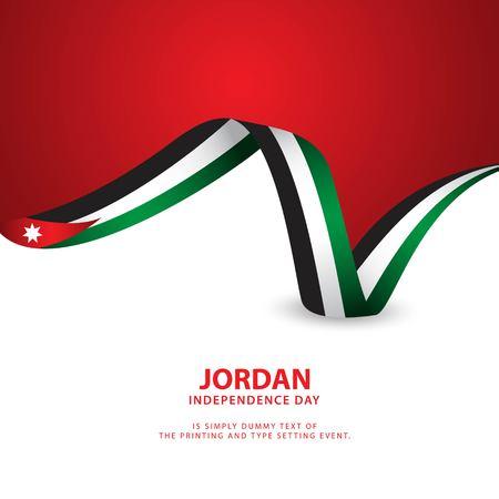 Ilustración de diseño de plantillas vectoriales del día de la independencia de Jordania