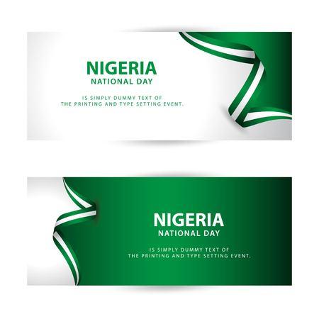 Nigeria National Day Vector Template Design Illustration