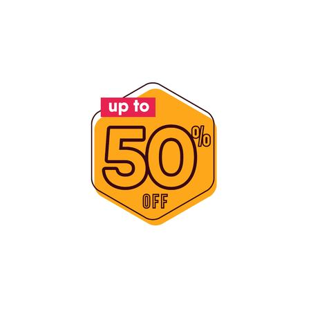 Discount up to 50% off Label Vector Template Design Illustration
