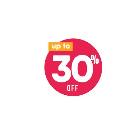 Discount up to 30% off Label Vector Template Design Illustration