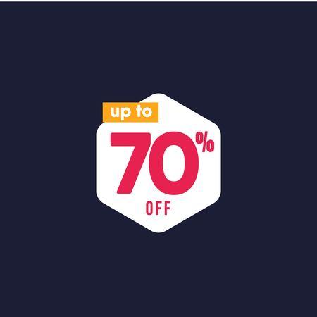 Rabatt bis zu 70% auf Etiketten-Vektor-Vorlagen-Design-Illustration
