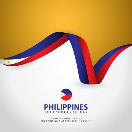 Philippines Independence Day Vector Template Design Illustration Illustration