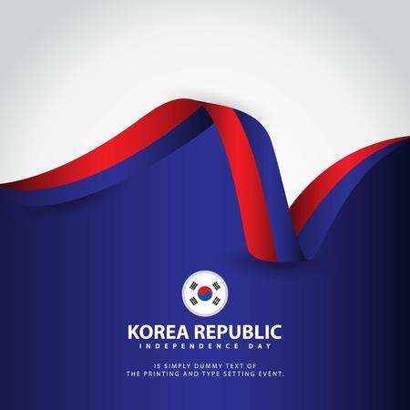 Korea Republic Independence Day Vector Template Design Illustration