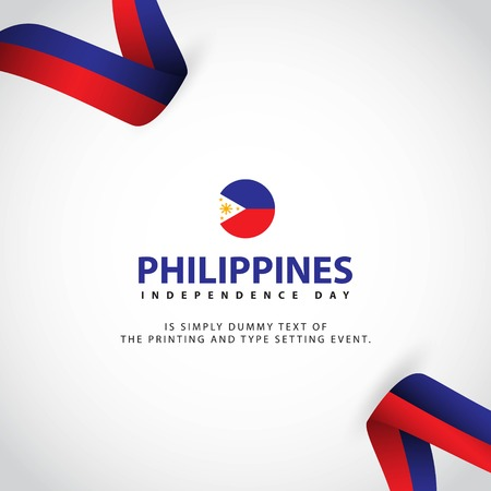 Philippines Independence Day Vector Template Design Illustration 矢量图像