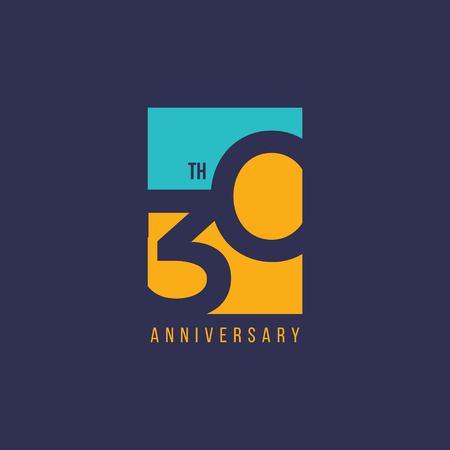 Ilustración de diseño de plantillas vectoriales de aniversario de 30 años Ilustración de vector
