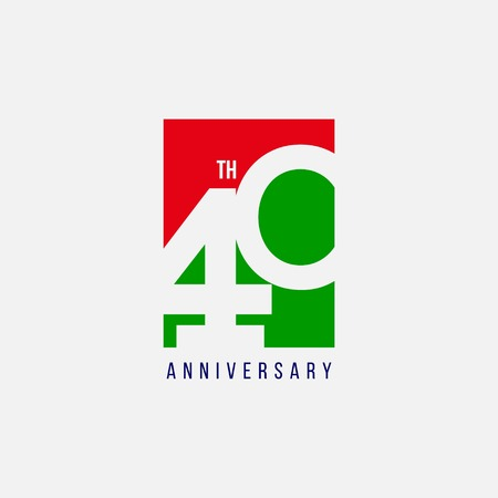 40 Year Anniversary Vector Template Design Illustration
