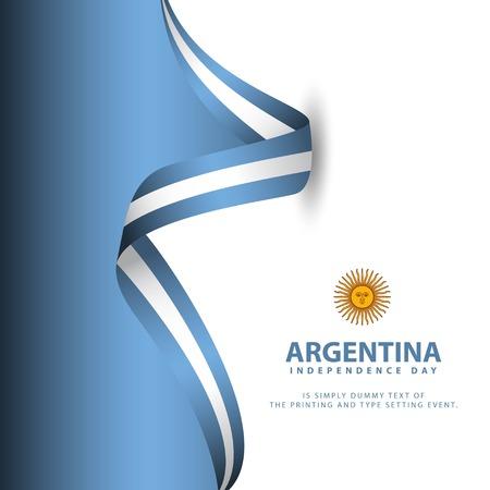 Argentinien Unabhängigkeitstag Vektor Template Design Illustration