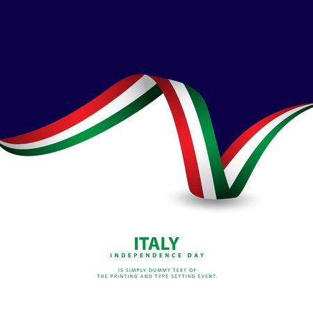 Italien Unabhängigkeitstag Vektor Vorlage Design Illustration Vektorgrafik