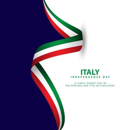 Italien Unabhängigkeitstag Vektor Vorlage Design Illustration