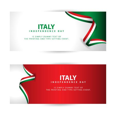 Italy Independence Day Vector Template Design Illustration Illusztráció