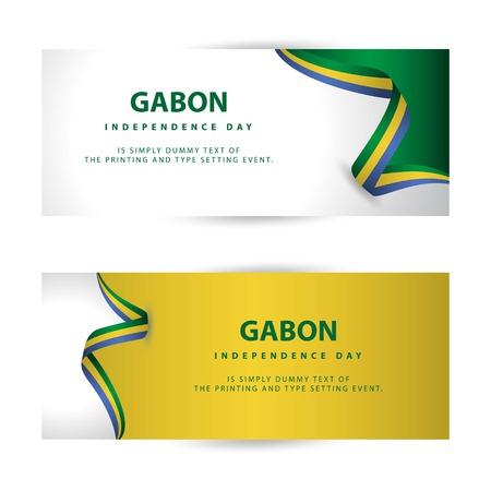 Gabon Independence Day Vector Template Design Illustration