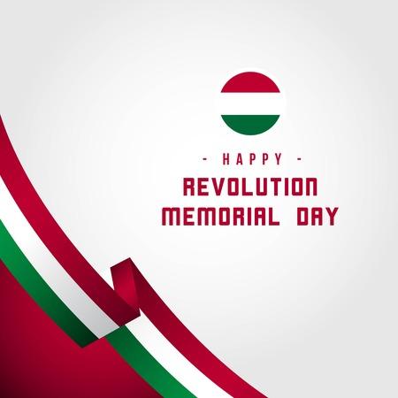 Happy Revolution Memorial Day Vector Template Design Illustration Vettoriali