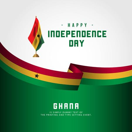 Happy Ghana Independence Day Vector Template Design Illustration