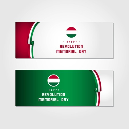 Happy Revolution Memorial Day Wektor Szablon Projektu Ilustracja