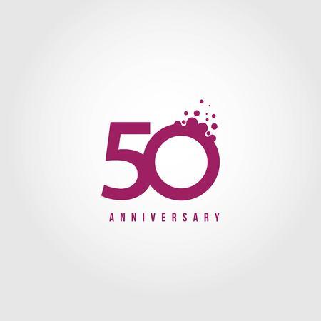 50 Jahre Jubiläum Vektor Vorlage Design Illustration Vektorgrafik