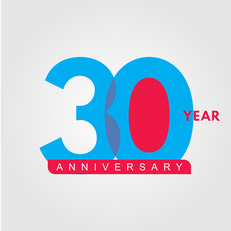 30 Year Anniversary Vector Template Design Illustration