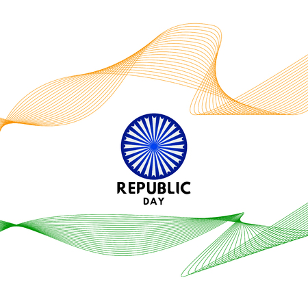 Happy Republic Day Vector Template Design Illustration Ilustração