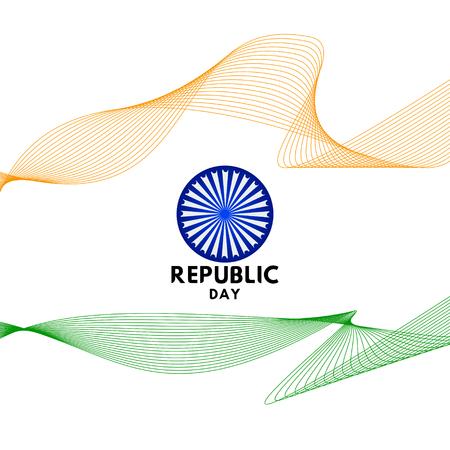 Happy Republic Day Vector Template Design Illustration Vettoriali