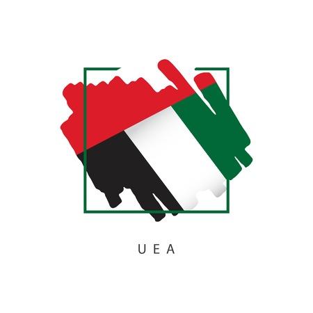 Ilustración de diseño de plantillas vectoriales de logotipo de pincel de los Emiratos Árabes Unidos Logos