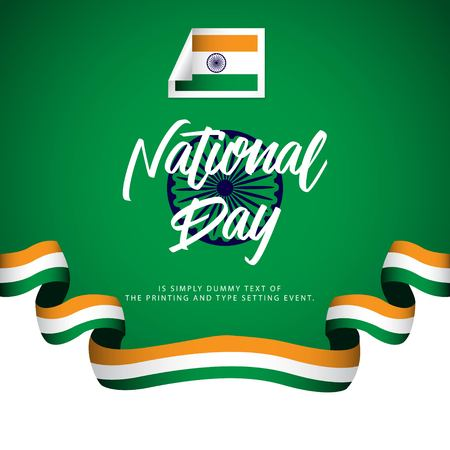 India National Day Vector Template Design Illustration Illustration
