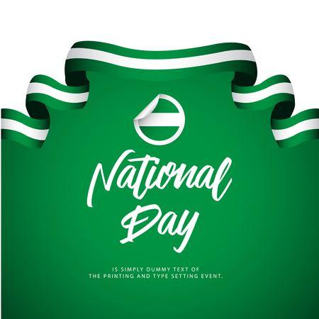 Nigeria National Day Celebration Vector Template Design Illustration