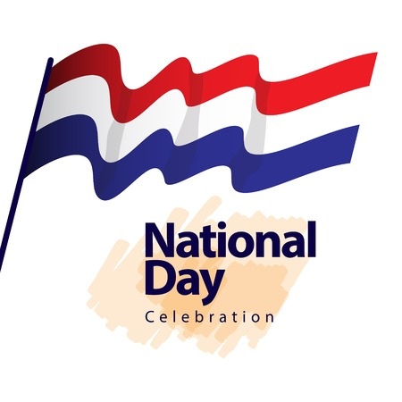 Netherlands National Day Celebration Vector Template Design Illustration  イラスト・ベクター素材