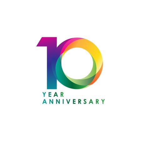 10 Jahre Jubiläum Vektor Vorlage Design Illustration