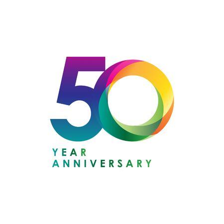 50 Year Anniversary Vector Template Design Illustration Vector Illustration
