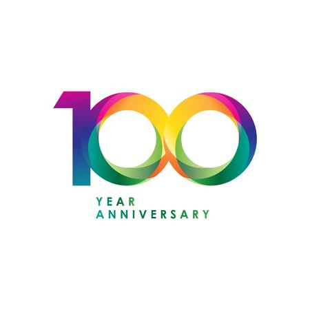 100 Year Anniversary Vector Template Design Illustration