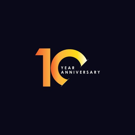 10 Year Anniversary Vector Template Design Illustration  イラスト・ベクター素材